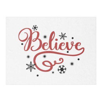Believe Fleece Blanket - Xmas ChristmasEve Christmas Eve Christmas merry xmas family kids gifts holidays Santa