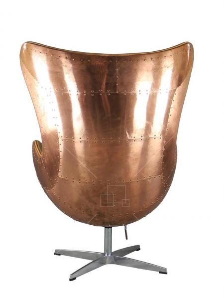 Copper Aviator Aj Egg Chair Vintage Caramel Leather