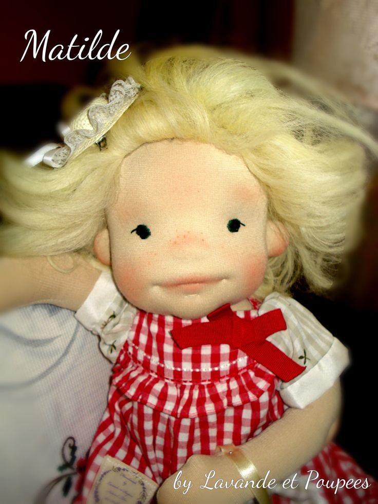 Matilde a Natural fiber Art Doll