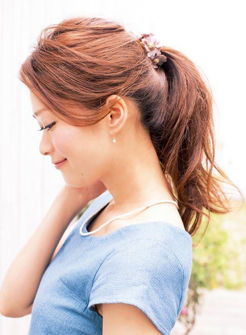 無造作感がかわいい簡単ポニーテー ル | 髪型 ヘアスタイル | with online on ウーマンエキサイト