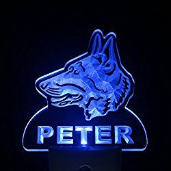 ws1068-tm German Shepherd Dog Personalized Night Light Day/ Night Sensor LED Sign
