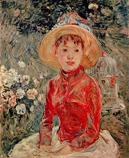Berthe Morisot: Young girl with cage (1885) | Flickr - Photo Sharing!