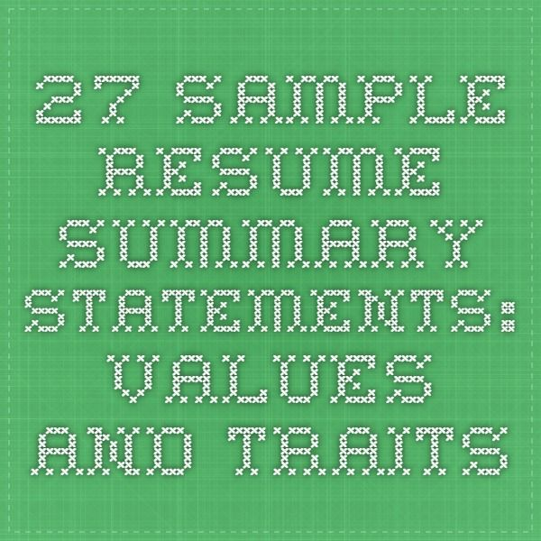 Best 25+ Resume summary ideas on Pinterest Executive summary - Sample Summary Statements