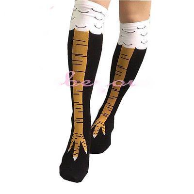 2016 creatieve sokken met kip print teen Trendy Vrouwen mode Overknee Koop Kip Teen Voeten Dames Creatieve Sokken Mens dunne