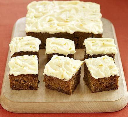 Halloween Pumpkin Cake    Like carrot cake? Then try using up your leftover pumpkin in this clever traybake for Halloween