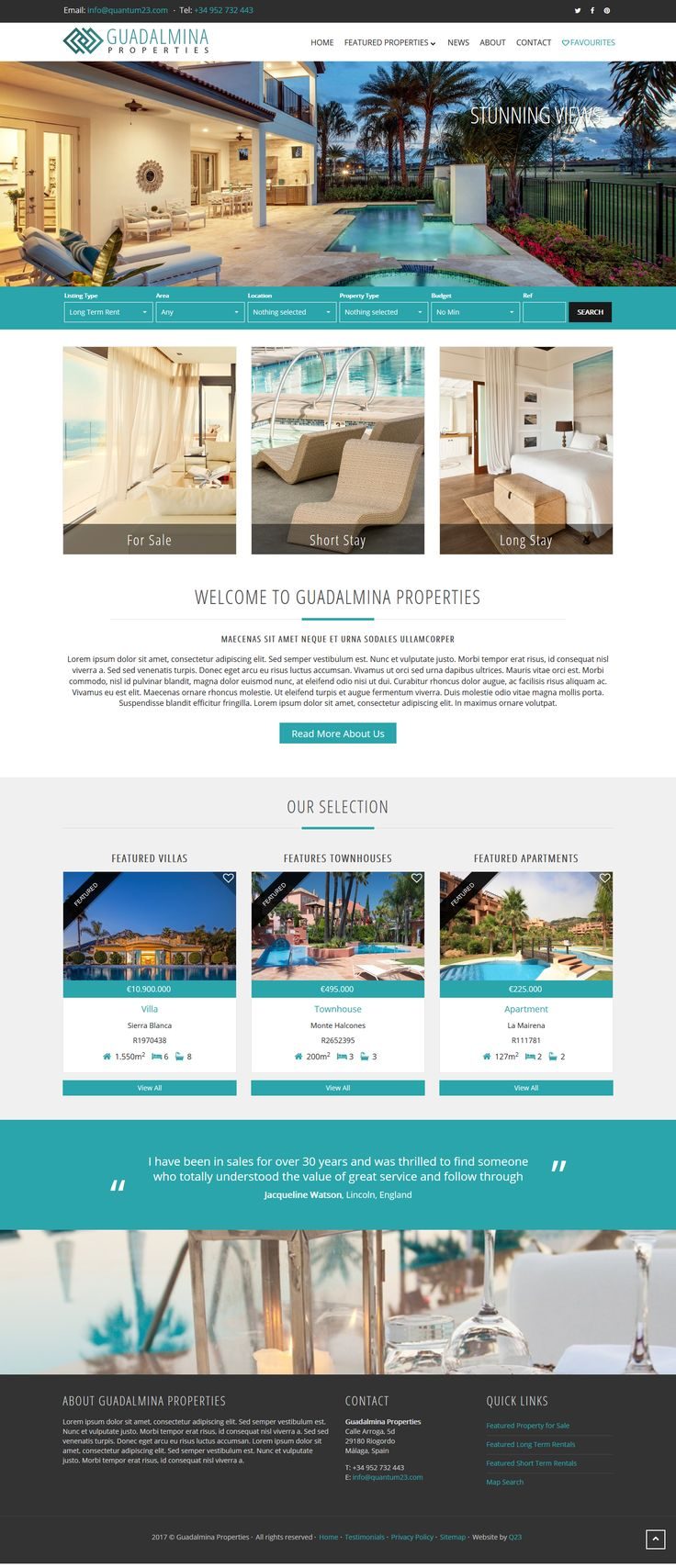 Guadalmina Theme - QRES On Demand pre-built theme for QRES Real Estate Web Solutions. #RealEstateSoftware #qresOD