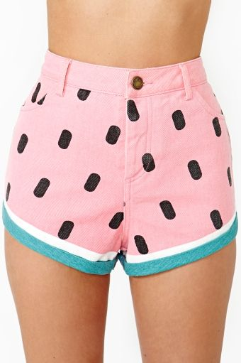 Watermelon Shorts by lazy Oaf x Nasty Gal