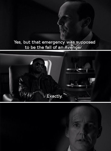 Agent Coulson's reaction when he realizes that he is an Avenger! oh my god im crying!