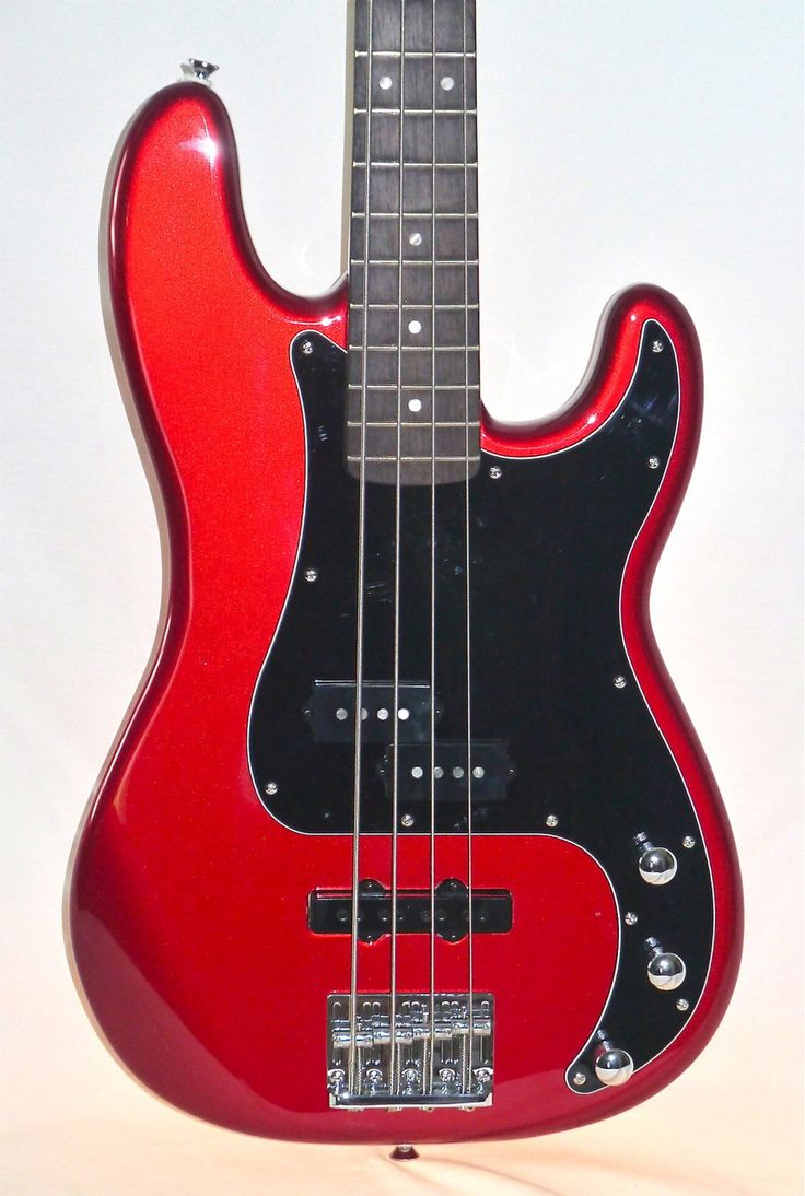 My eb bass squier vintage modified jazz bass - Squier Vintage Modified Precision Bass Pj Candy Apple Red Indian Creek Guitars