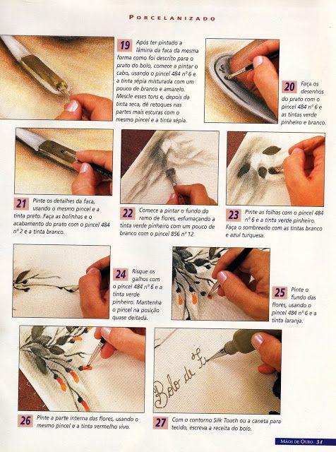 Riscos , videos de como pintar e dicas de que cores utilizar na pintura em tecido
