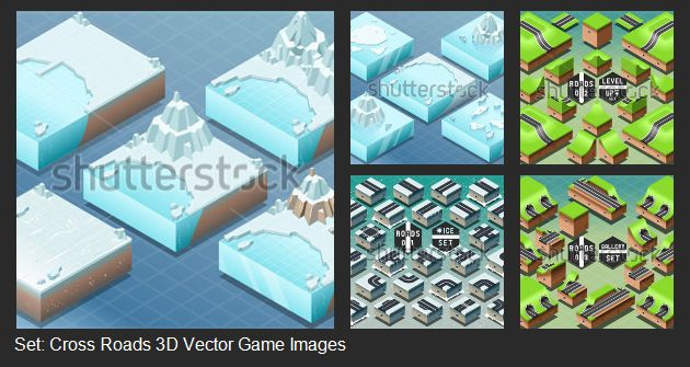 Build you own 3D game!  Images that you can find on Shutterstock.