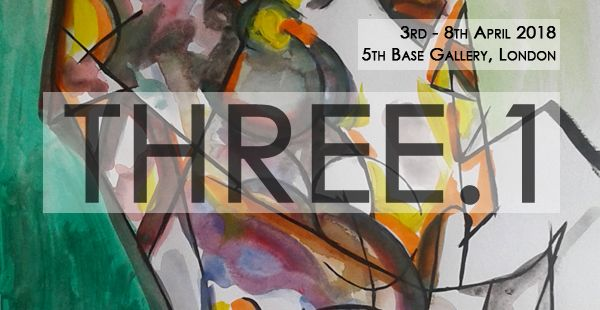 Three.1 group exhibition @ 5th Base Gallery, London. 3rd - 8th April 2018, Private View 6 - 9 pm Thursday 5th April 2018. #AleksandarBasic,  #LukeBranca #MatthewHams #three.1 #3.1 #5thBaseGallery #April2018