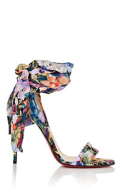 0fcf1e4ec8d Christian Louboutin Sandale Du Desert Floral Crepe Sandals - Heels ...
