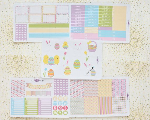 Easter bunny weekly kit for Erin Condren