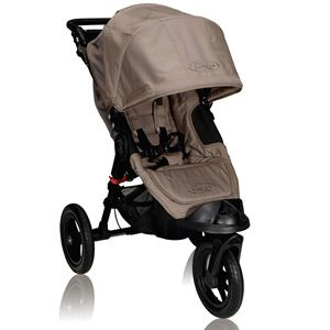 Baby Jogger City Elite stroller.  Comes in many colors.  Is a great option if you want to do some brisk walking and jogging, but is a GREAT everyday stroller.  Has the easiest folding in the market!!! Also has a good canopy for sun shade.