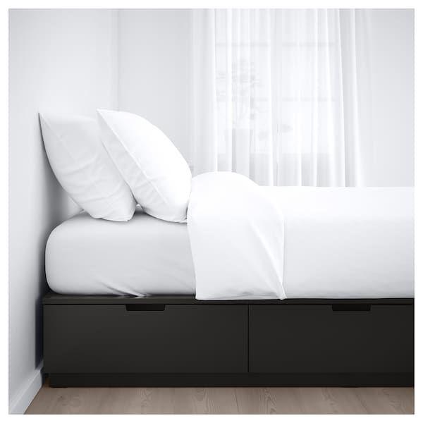 Nordli Bedframe Met Opberglades Antraciet 140x200 Cm Ikea Bed Frame With Storage Bed Frame Ikea Bed