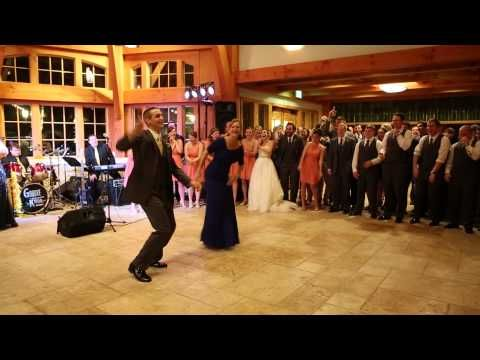 This groom and his awesome mom surprised wedding guests with this amazing dance mash-up. Apparently, they practiced separately and performed together for the first time at the event. Impressive! | Check Out This Delightful Mother-Son Wedding Dance Complete With The Nae Nae