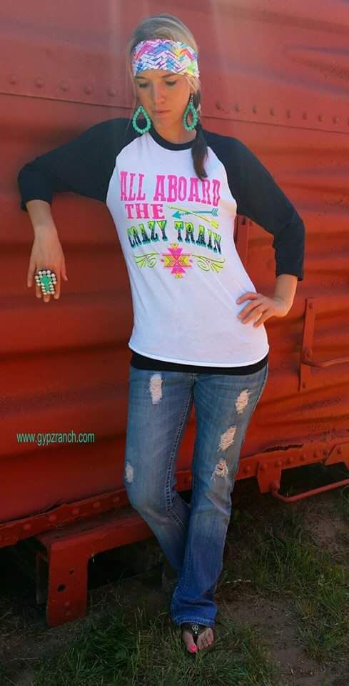 All Aboard The Crazy Train Neon  Top - Also in Plus Size