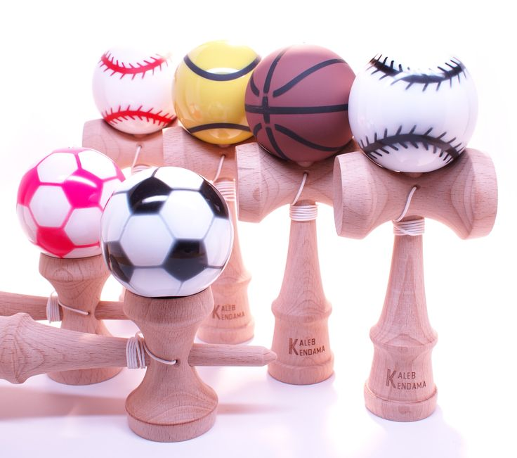 Game On! Basketball, Baseball, Soccer, Tennis & Golf Kendama. #kendama http://www.kalebkendama.com/collections/sports