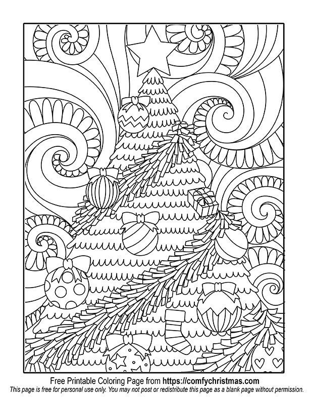 Free Printable Christmas Coloring Pages Comfy Christmas Printable Christmas Coloring Pages Christmas Tree Coloring Page Christmas Coloring Pages