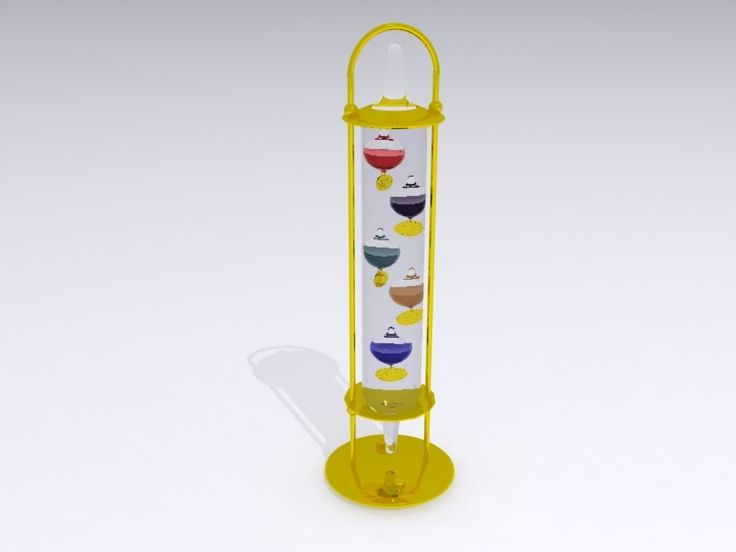 3D Model Decorative Thermometer - 3D Model