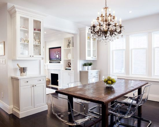 Dining Room White Cabinets