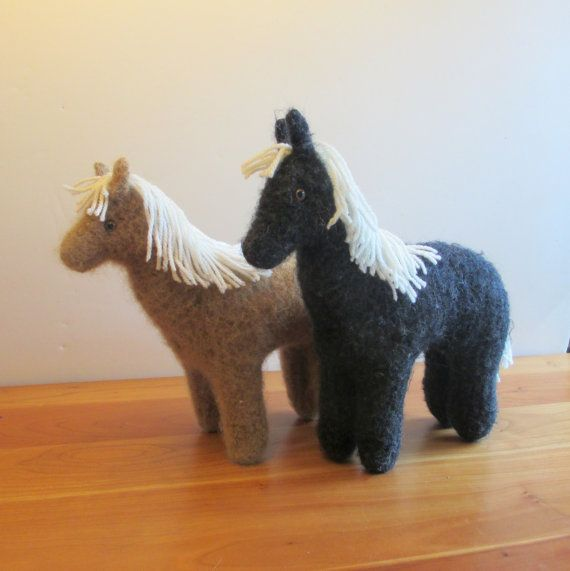 Plush Horse Choice of Colors Stuffed Animal Toy by FeltedFriends