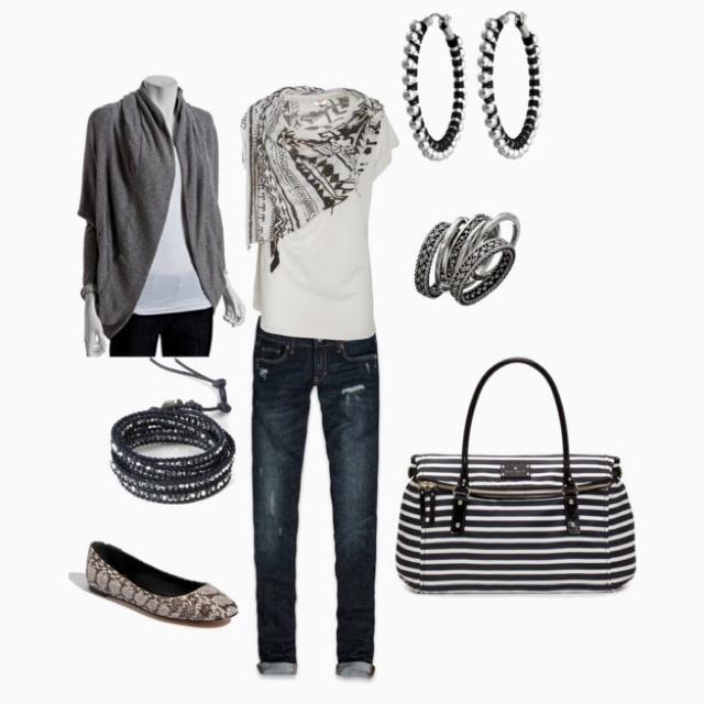 Grey & Black casual outfit