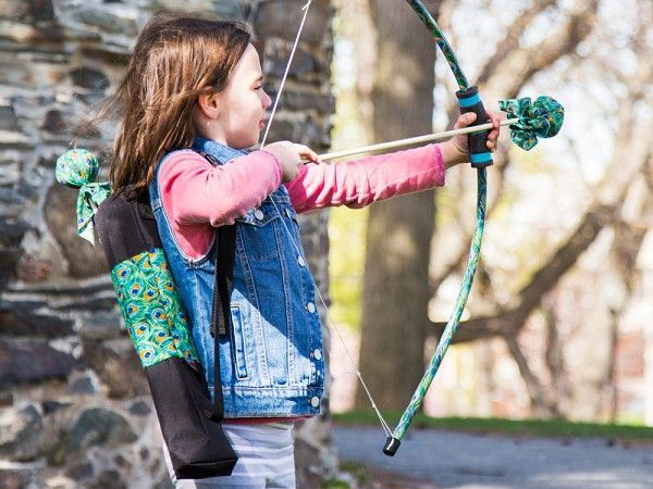 "Made in the USA archery sets created by two young brothers. The puffy-not-pointy ""arrows"" are a safer—and more lighthearted—way to play."