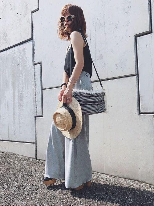 バッグはGUセールで¥590だったもの♡普段服がシンプルだから、こうゆうの欲しかった😊💘 pan