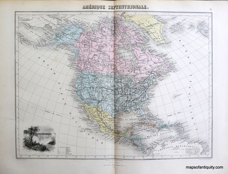15 best North America - Pre 1850 images on Pinterest Maps, North - best of world map with alaska and hawaii