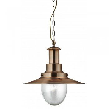 5301CU Searchlight Fisherman Pendant Light in Antique Brass Arrow Electrical
