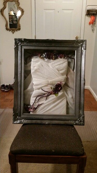 Had My Ruined Wedding Dress Turned Into A Beautiful Piece Of Art That I Can Enjoy