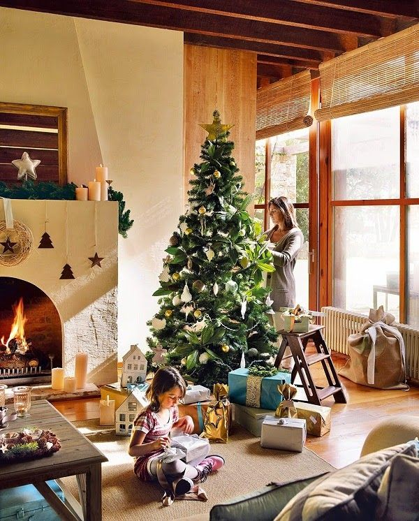 Cute Christmas Decorated House in Spain