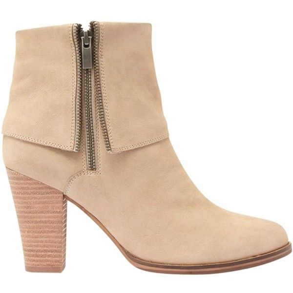 Mint Velvet Aiyana Block Heeled Ankle Boots , Neutral (€175) ❤ liked on Polyvore featuring shoes, boots, ankle booties, neutral, block heel boots, short flat boots, high heel booties, low booties and flat ankle booties