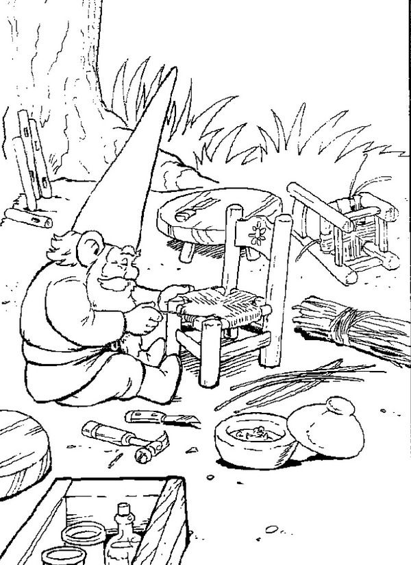 david the gnome coloring pages coloring style pages - Gnome Coloring Pages 2