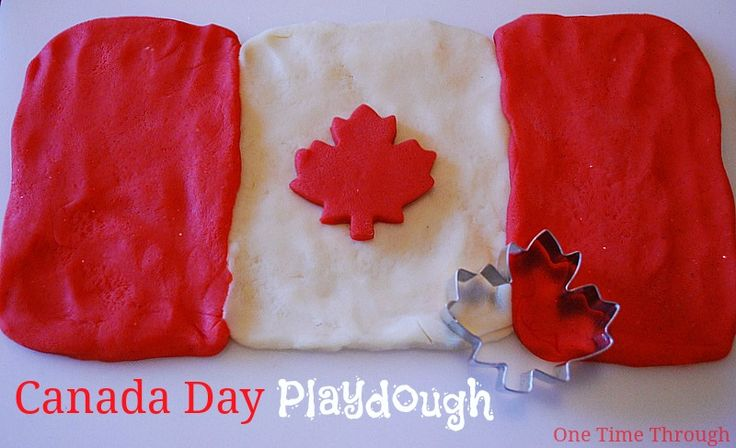 Great way to get kids talking about the Canadian flag and Canada Day!  {One Time Through}