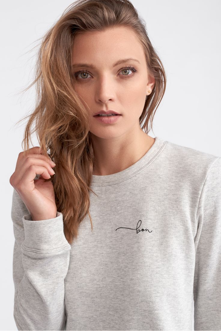 The bon Fitted Sweater by bon label. Autumn 17 collection. organic. ethical fashion. made in australia. inspired by paris. good for womankind.   grey, sweater, jumper, essentials, organic, cotton, parisian style   SHOP bonlabel.com.au