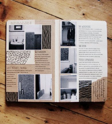 Like the layout - photos with neatly written notes
