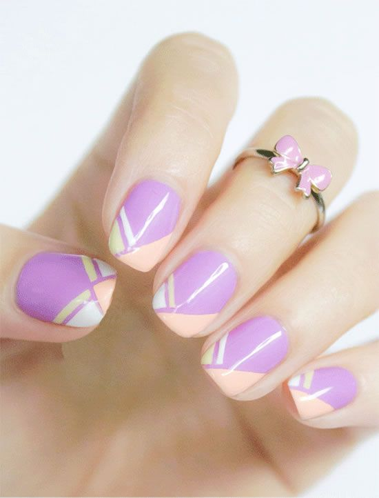 Geometric French Design Nail