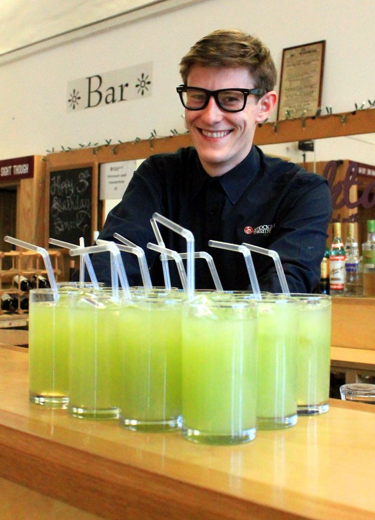 """Lorcan handing out our Limited Edition """"In Earnest"""" Smocktails"""