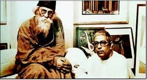 Jamini Roy with Rabindranath Tagore