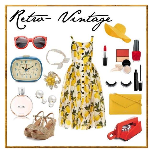 Retro- Vintage by carlablasco on Polyvore featuring moda, Dolce&Gabbana, UGG Australia, PUR, Allurez, Accessorize, Carole, ZeroUV, MAC Cosmetics and Marc Jacobs