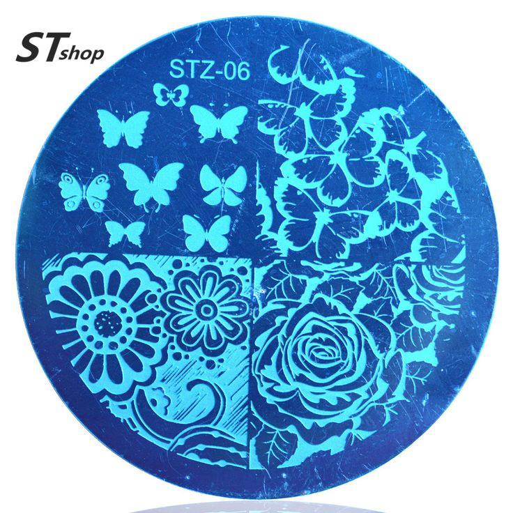 Buy 1pcs Various Butterfly Flower Nail Art Stamping Template Image Plate DIY Print Decoration Beauty Stencils for Nails Tools STZA06 at JacLauren.com
