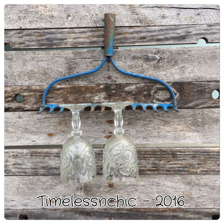 A personal favorite from my Etsy shop https://www.etsy.com/listing/491090037/rake-jewelry-holder-rake-wine-glass