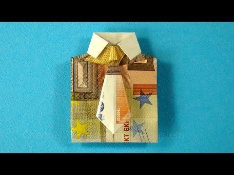 Geldscheine falten für Geldgeschenke: Hemd & Krawatte - YouTube