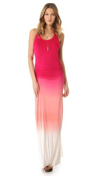 Ombre pink maxi dress