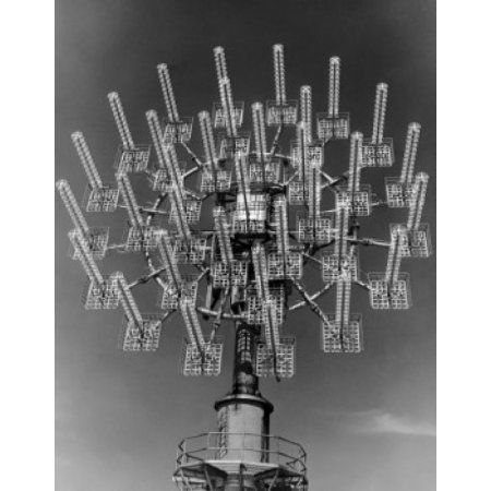 Low angle view of a communications tower Canvas Art - (24 x 36)