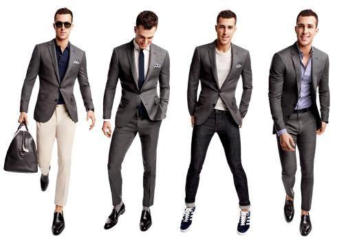 1 suit jacket, 4 looks