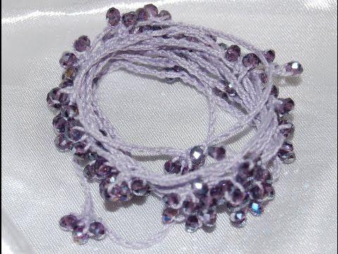 Tutorial collana estiva uncinetto | How to crochet a necklace - YouTube